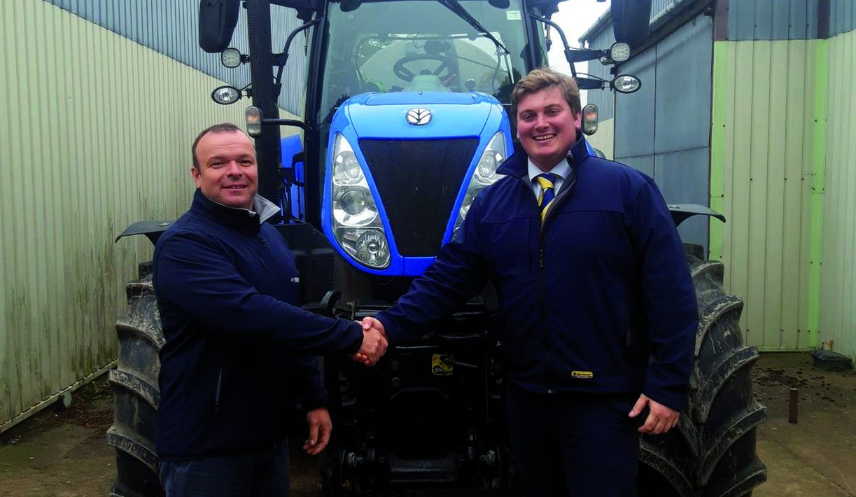 David Evans is welcomed to New Holland