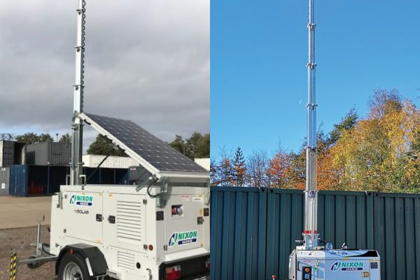 Nixon Hire lighting towers supplied by MHM Plant