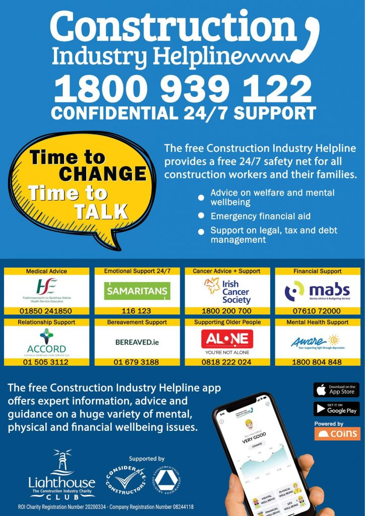 Lighthouse Construction Industry Charity Poster