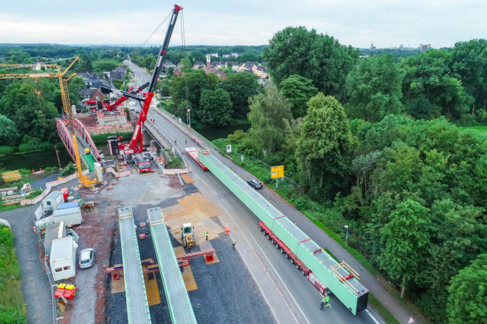 Liebherr Mobile Cranes aid transport of girders