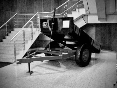 JCB first steel tipping trailer